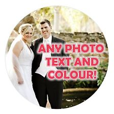 """YOUR OWN PERSONALISED PHOTO EDIBLE ICING CAKE TOPPER 7.5"""" ROUND"""