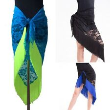 Belly Dance Scarf Wrap Skirt Latin Competition Fringes Skirt Dance Dress New G31