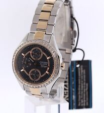Ladies Citizen FD1066-59H Eco-Drive Two-Tone Swarovski Crystal Accent Watch