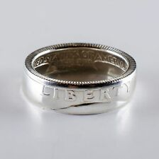 Coin Ring *Top Quality* 90% Silver Quarter Heads Double Sided - Proof 1954-1959