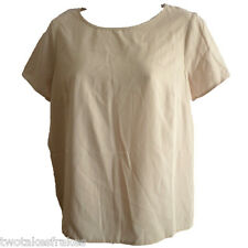 ASOS Crew Neck Top Short Sleeve Nude Cream All Sizes UK 6 8 10 12 14 16 18  NEW