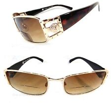 Reader Sunglasses Bifocal UV Protection Metal Frame Men Women Reading Glasses