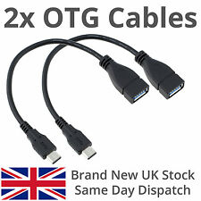 2 x Micro USB Host Cable Male to USB Female OTG Adapter Android Tablet Samsung