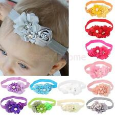 1x Baby Elastic Lace Pearl Flower Headband Baby Shower Photo Props Hair Headband