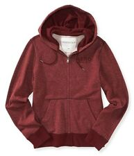 Aeropostale Mens Marbled Full Zip Hooded Hoodie Sweatshirt