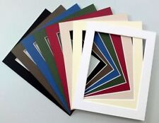 "8x6""/6x8""Cardboard Photo/Picture MOUNTS Choice of colours Cut Out Size 6x4""/4x6"""