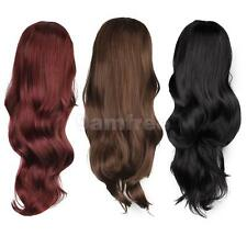 "Fashion Womens 24"" Sexy Long Curly Wavy Wig Cosplay Party Full Wigs w Side Bangs"