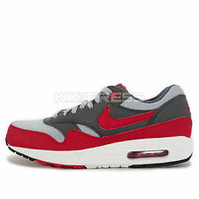Nike Air Max 1 Essential [537383-062] NSW Running Wolf Grey/Gym Red-White
