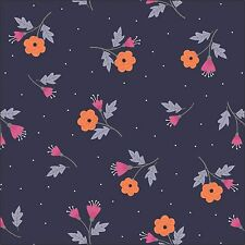 Camelot Fabrics Paradise Ditsy Floral on Purple Cotton Fabric