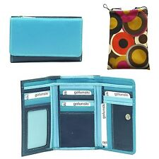 Golunski 3-07 Leather Multi Coloured Purse In 5 Stunning colours By Golunski