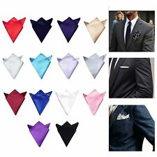 Men Silk Satin Wedding Party Prom Hanky Pocket Square Handkerchief Towel Pure