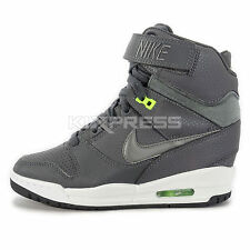 WMNS Nike Air Revolution Sky Hi [599410-019] NSW Casual Wedge Grey/Pewter-Green