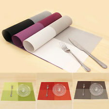 4Pcs PVC Waterproof Placemats Insulation Mat Table Coasters Kitchen Dining Table