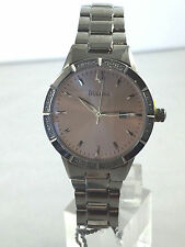 Women's Bulova 96R175 Stainless Steel Diamond Accented Case Pink Dial Watch