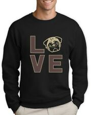 Love Pugs - Cute Pug Face Dog Lovers Gift Idea Sweatshirt Animal Lover