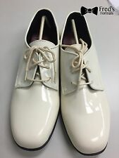New Mens Dress Shoe Ivory Tuxedo Wedding Prom Formal Band Formal Shoes All Sizes