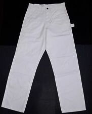 Lakin McKey Key Trading Co White Canvas Dungarees Relaxed Fit