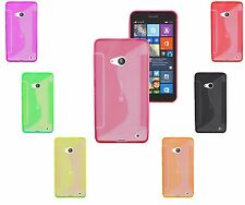 S-Line Wave TPU Soft Silicone Gel Grip Back Case Cover For Nokia Lumia 550 UK