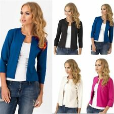 Lady Womens 3/4 Sleeve Business Suits Slim Work Blazer Suit Jacket Coat Outwear