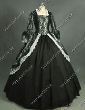 Colonial Victorian Brocade Period Dress Ball Gown Theatre Halloween Costume 164