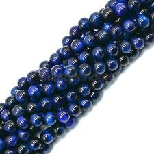Natural Blue Stone Round Jewelry Making Loose Gemstone Spacer Beads Strand 15""