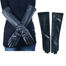 Women's Ladies Opera Evening Party Faux Leather  Winter Warm Long Gloves G14