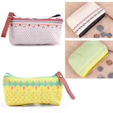 New Women Canvas Mini Cosmetic Coin Cellphone Makeup Pouch Bag Purse Wallet CA