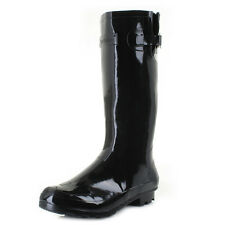 Womens Ladies Wyre Black Wellington Boots Waterproof Rubber Boots Size