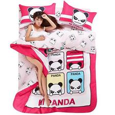 Single Double Queen King Size Bed Set Pillowcase Quilt Duvet Cover Angry Panda L