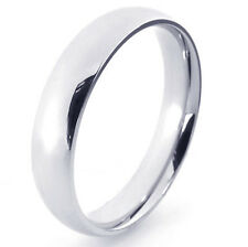 Authentic Smooth White Gold Filled Womens Mens Band Ring Size7-10 Free Shipping