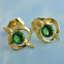 Swarovski Crystal Green Stud Earings 14k Gold F Womens Stud Earrings statement