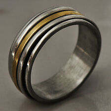 Fashion Reliable Men's Stainless Steel Band Promise Love Band Ring Size 9-11