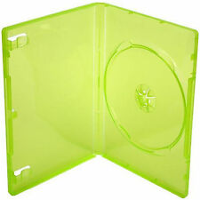 XBOX 360 Replacement Game Cases Translucent Green Cover Wallet Case Amaray