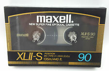 New Maxell XLII-S 90 Audio Cassette Tape Vintage 1980s Made in Japan Retro