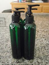 4 NEW Green Plastic Pet Cosmo Round Bottles 8 oz w/ Sprayers OR Pumps