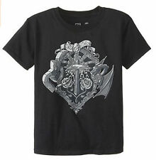 Minecraft Gray Heroes Crest Boys Girls Youth Black T Shirt NEW Licensed Jinx YDD