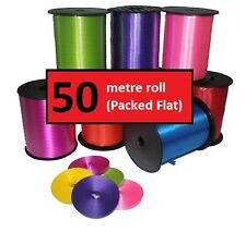 50 Metre Roll Balloon Curling Ribbon - Packed in Rolls - Buy 2 Get 1 FREE
