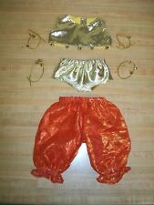 """16"""" CPK Cabbage Patch Kids BELLY DANCE outfit only TOP PANTY PANTS 4 SETS BELLS"""