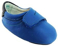 Bobux Babies Babies New-b Big Hitters Plain Blue Vel New Born Baby Shoes New