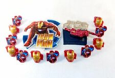 Marvel Iron Man 2 Birthday Party Pack ~ Choice of Cake Topper w/12 Cupcake Rings