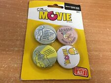A SET OF 4 BADGE PACK THE SIMPSONS MOVIE