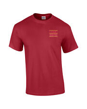 US Marine Corps Logo EMBROIDERED Red T Shirt  USMC