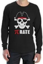 Pi-Rate - Funny Math Pirate Skull and Crossbones Long Sleeve T-Shirt Cool