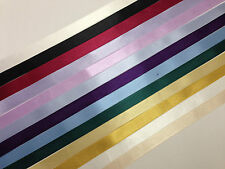 2 x 10 metres 15mm Double Faced Satin Ribbon for Decoracting Favours