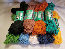 Vintage TG&Y Golden T Heavy Rug Yarn - 9 Different Colors - rayon/cotton
