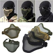 Tactical Half Face Protection Safety Mesh Mask Guard Paintball Airsoft Swat Game