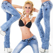 New Sexy Women's Hipster Jeans Light blue wash Bootcut Jeans Pants 6,8,10,12,14