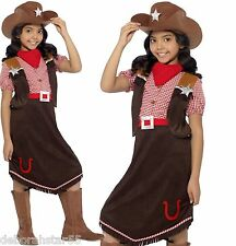 Girls Deluxe Cowgirl Cow-Girl Wild West World Book Day Fancy Dress Costume 4-12