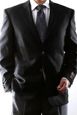 MENS SINGLE BREASTED 2 BUTTON BLACK BLAZER, PL-J60212C-BLK