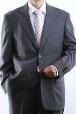 MENS TWO BUTTON GRAY TONAL STRIPE DRESS SUIT, PL-65712N-GRE